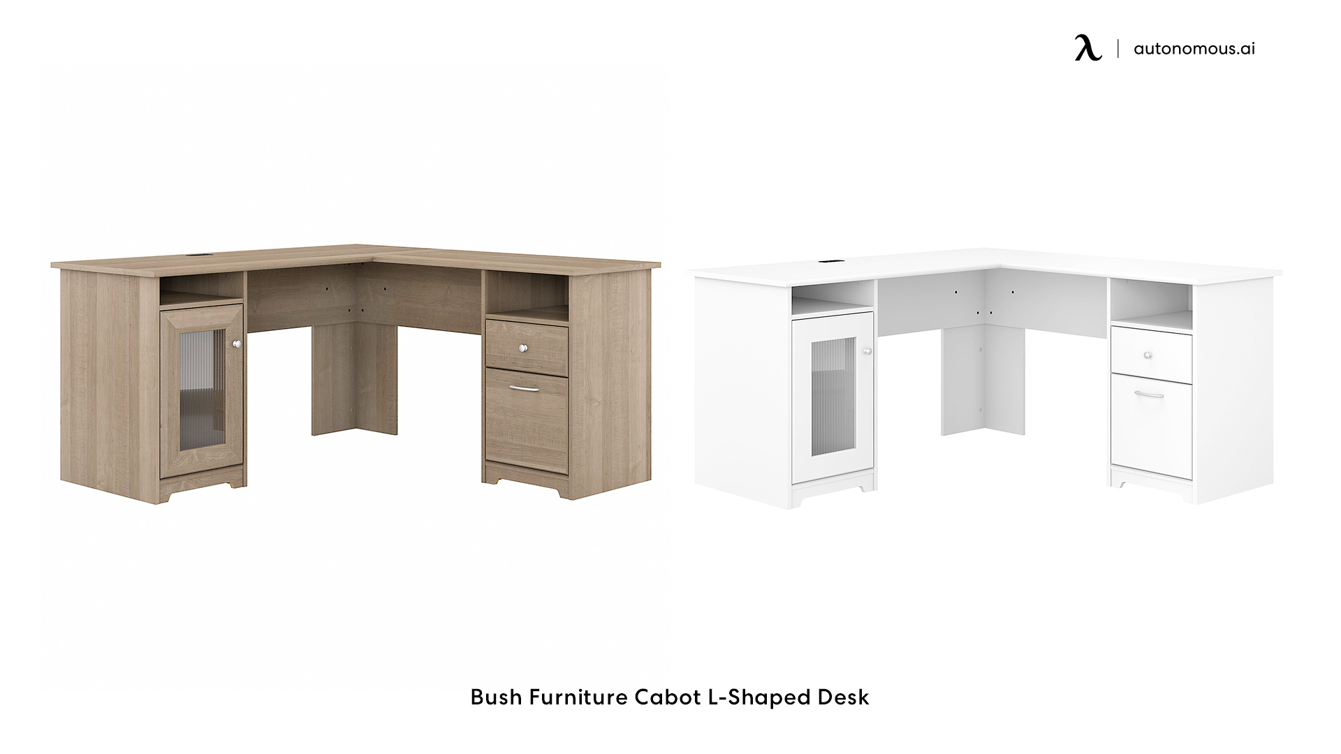 Bush Furniture L-shaped Cabot Computer Desk