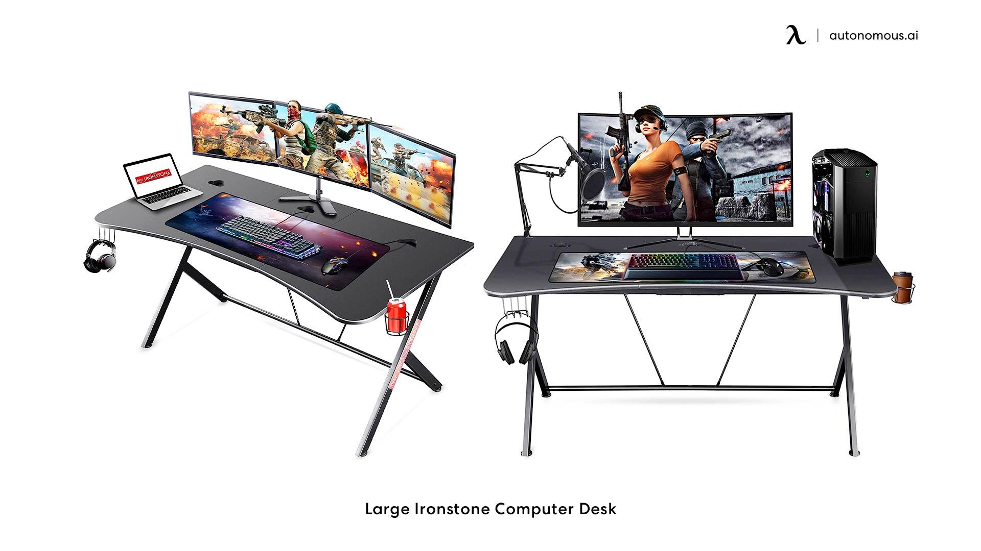 Large Ironstone Computer Desk