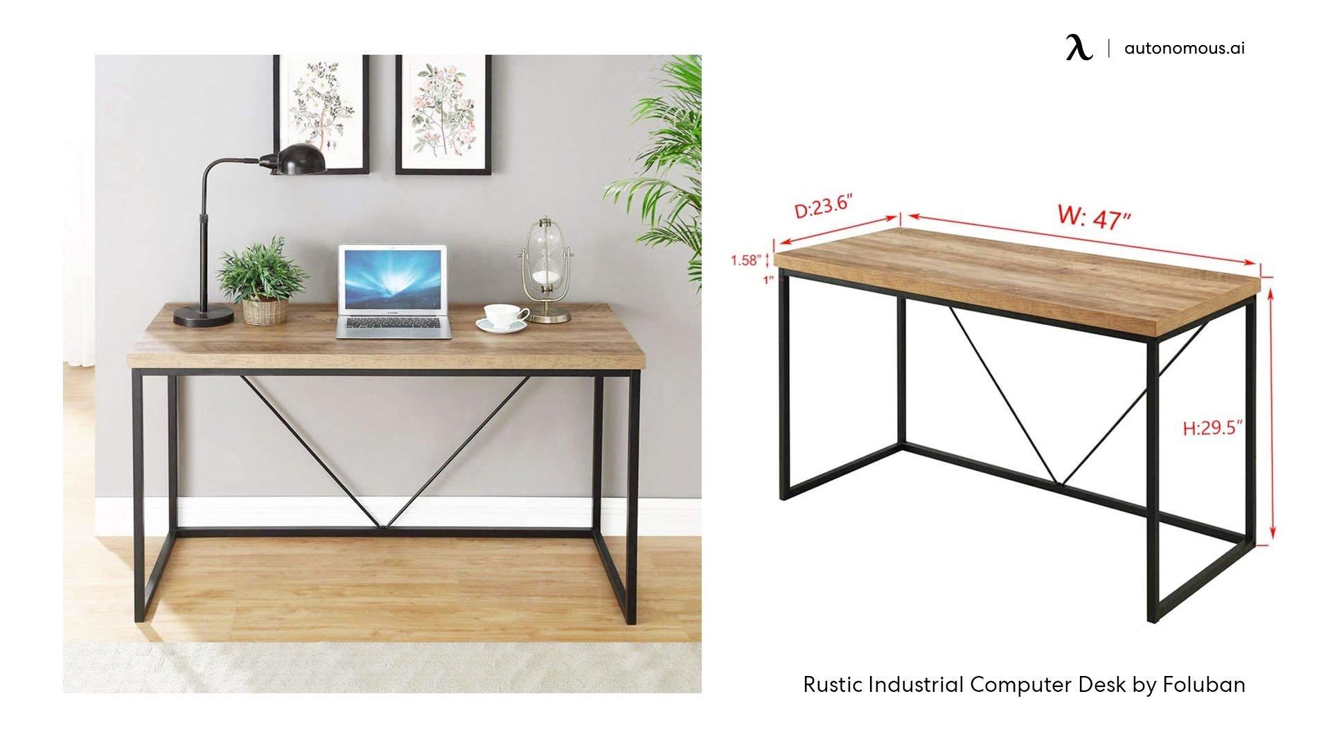 Rustic Industrial Computer Desk by Foluban