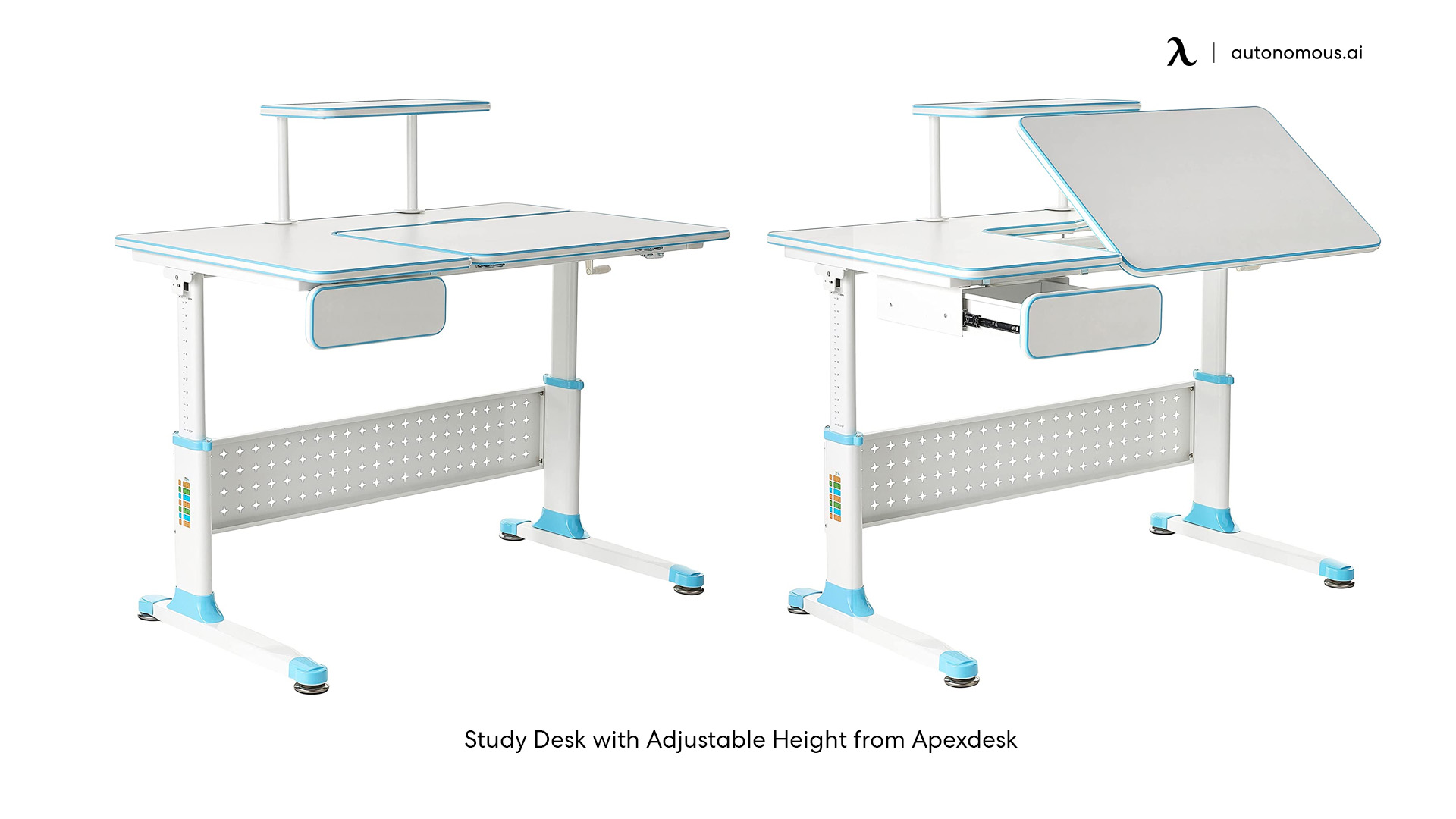 Study Desk with Adjustable Height from Apexdesk