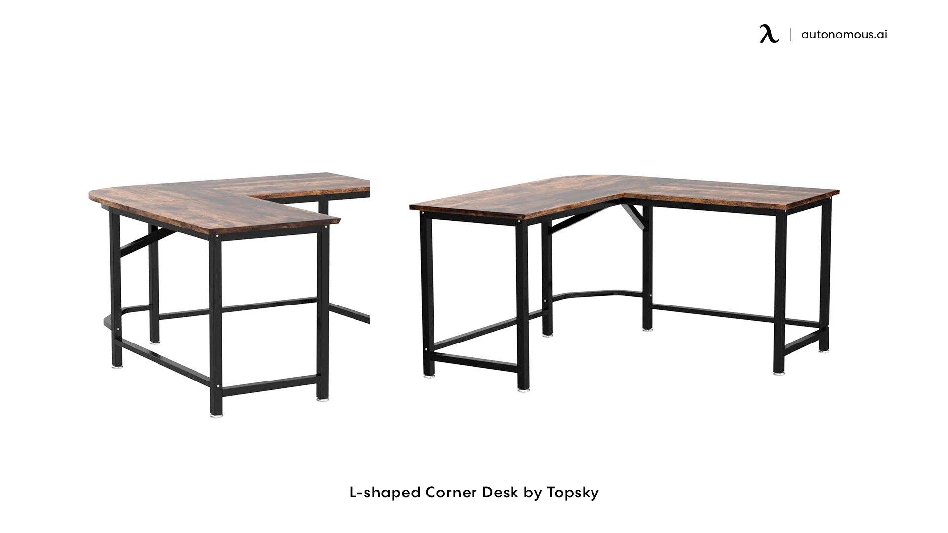 L-shaped Corner Desk by Topsky