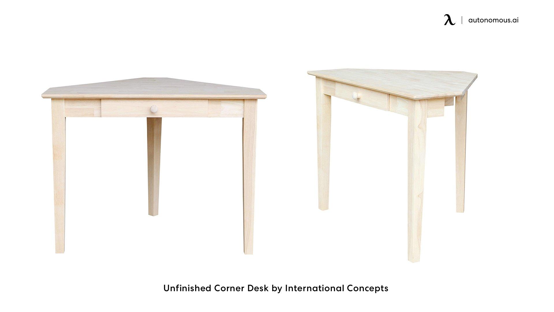 Unfinished Corner Desk by International Concepts