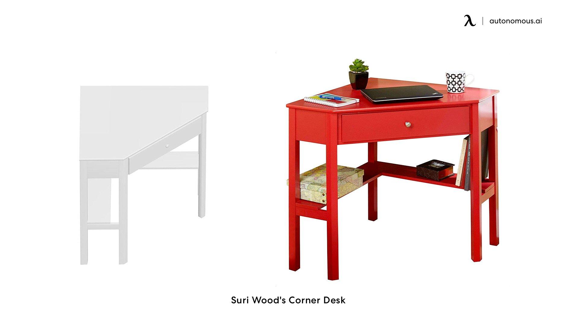 Suri Wood's Corner Desk