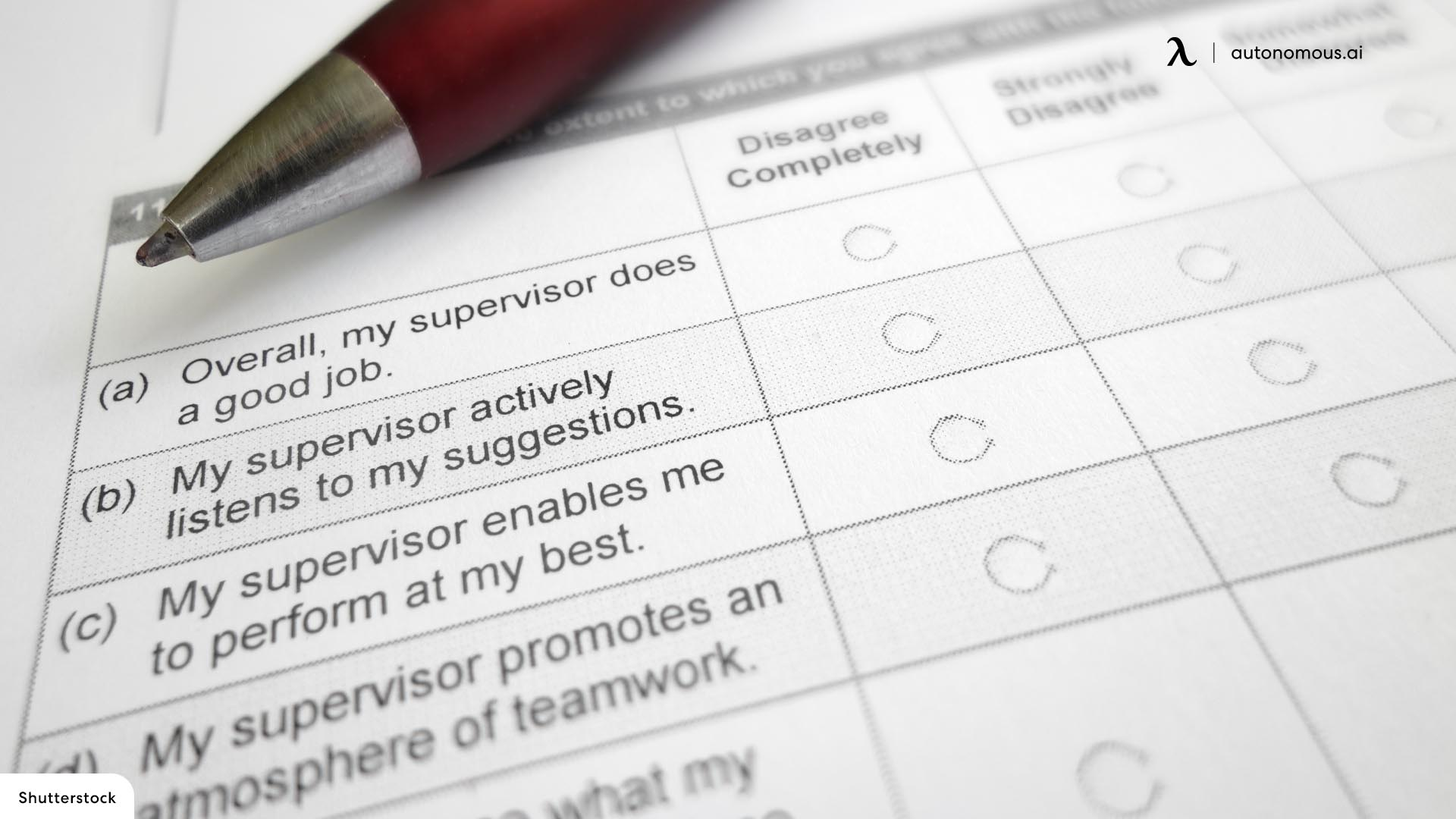 Employee Survey Sample Questions