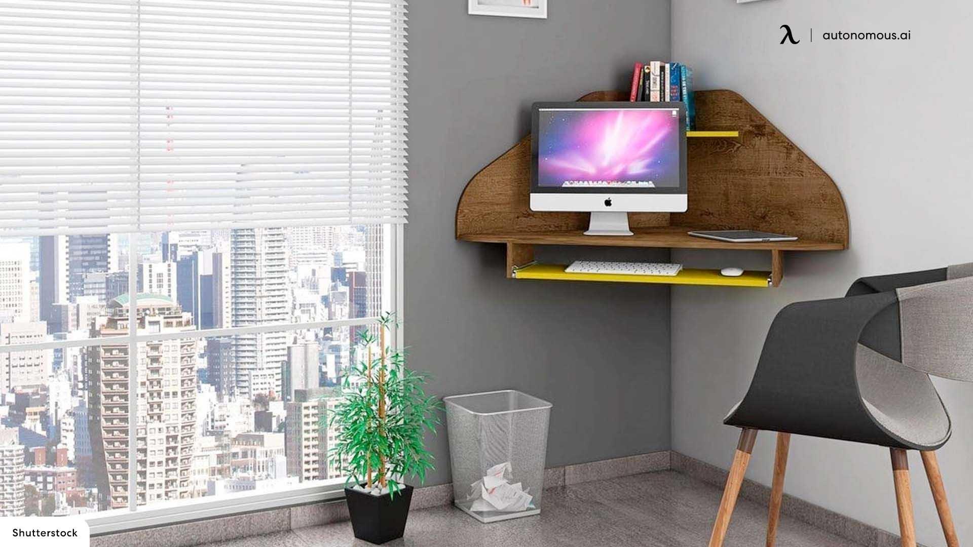 Floating corner desk idea
