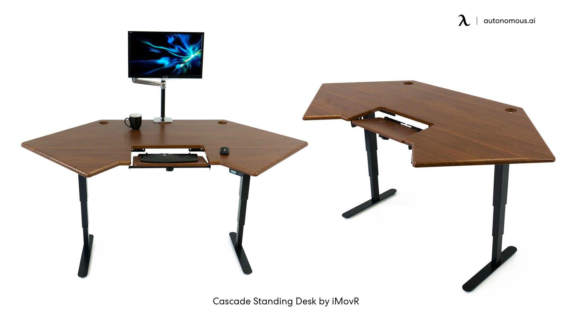 Cascade corner desk idea by iMovR