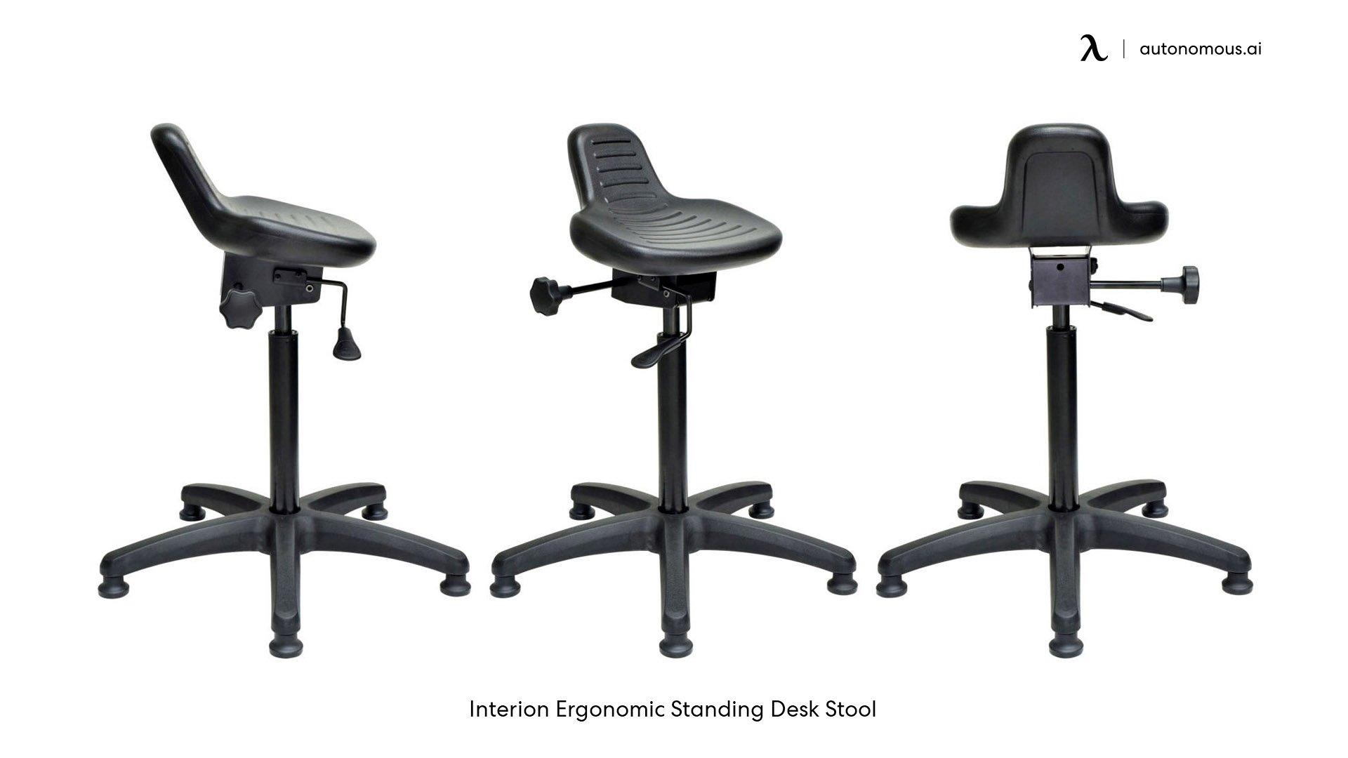 Backrest of ergonomic saddle chair