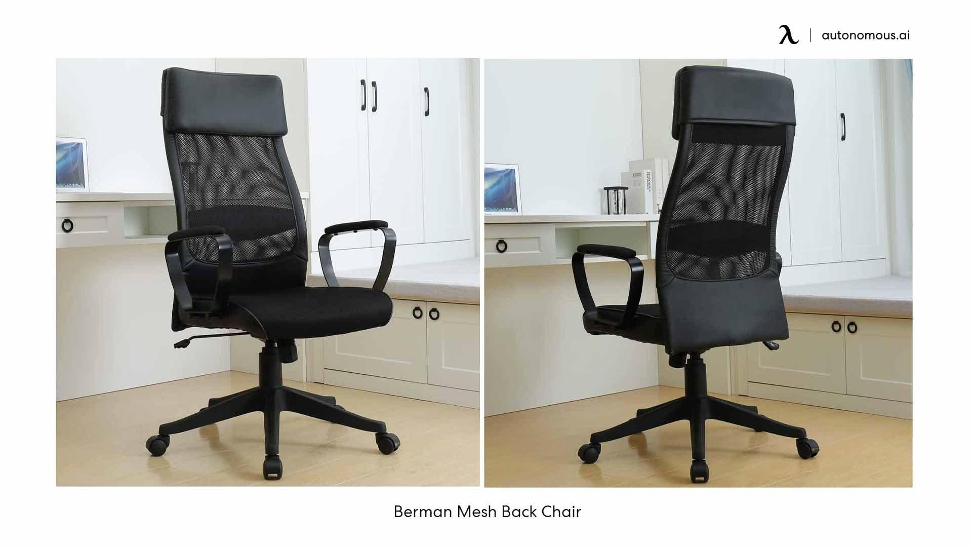 Berman Mesh Back modern desk chair
