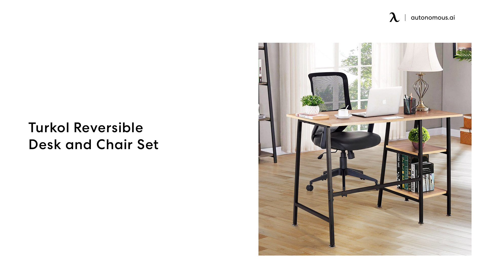 Turkol Reversible Desk and Chair Set