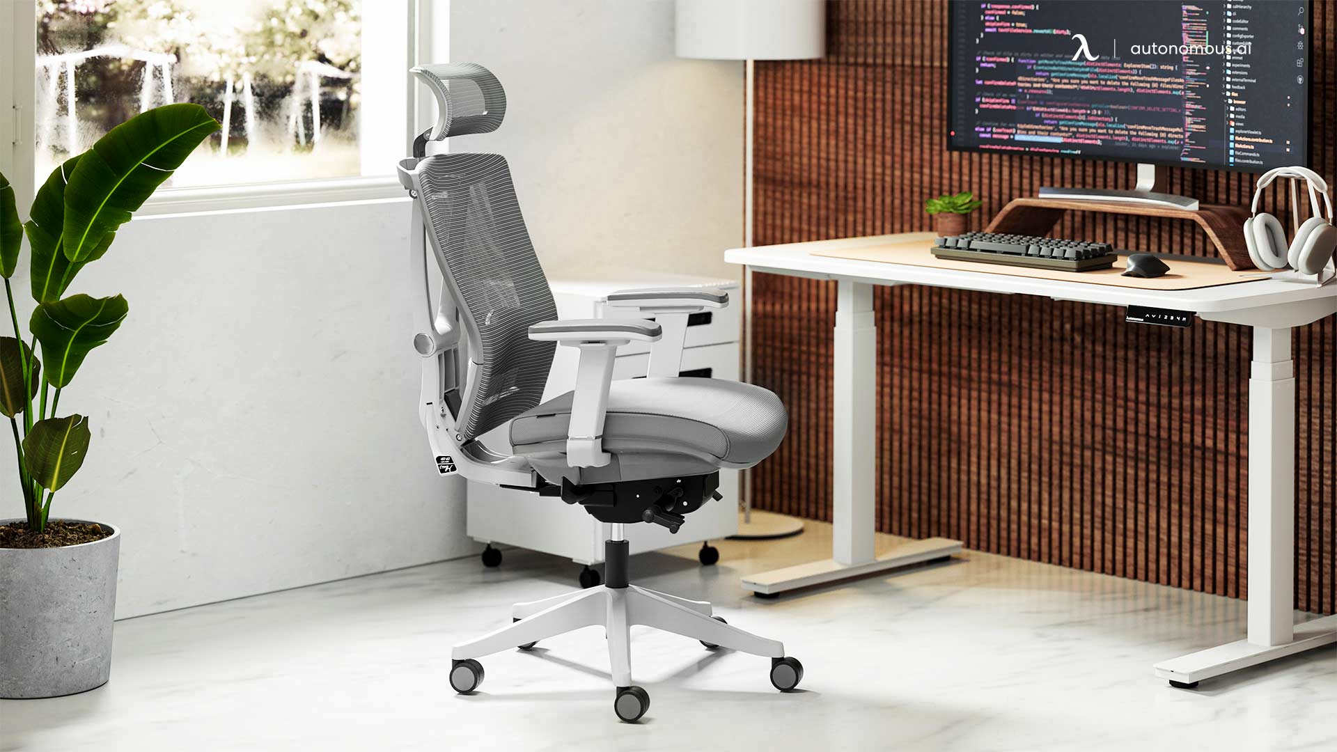 Autonomous office desk set: Sleek and Stylish