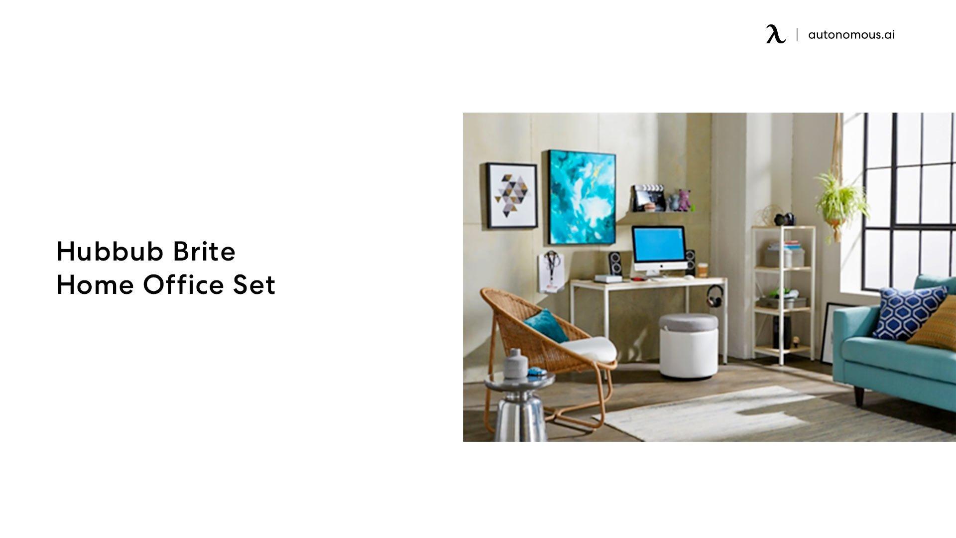 Red Barrel Studio Desk and Filing Cabinet Set