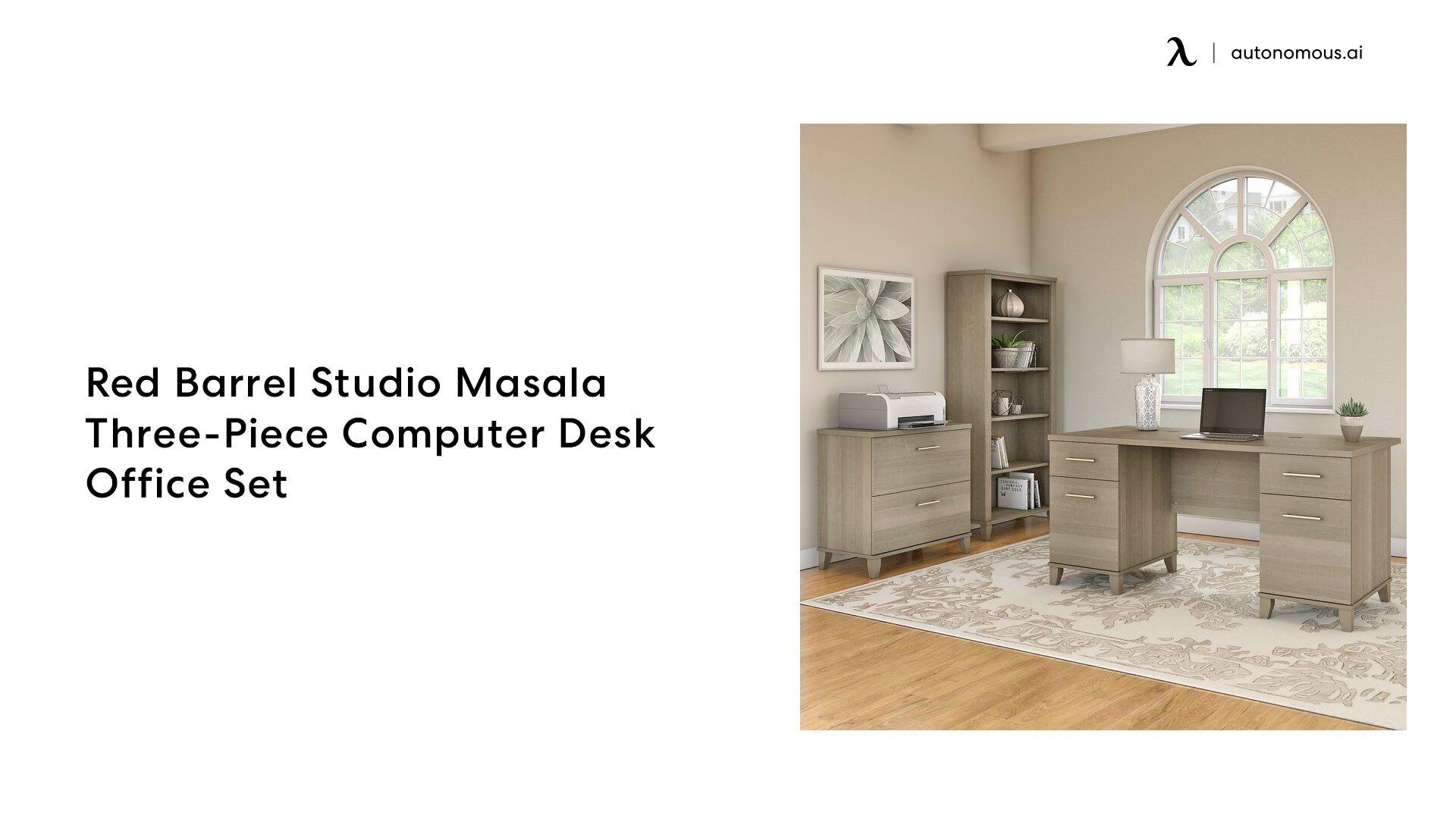 Red Barrel Studio Masala Three-Piece office desk set