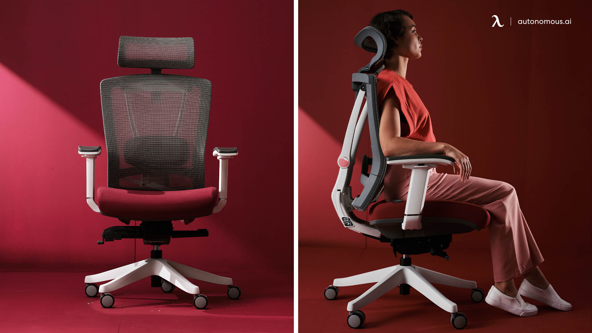 ErgoChair Pro - red office chair with arms