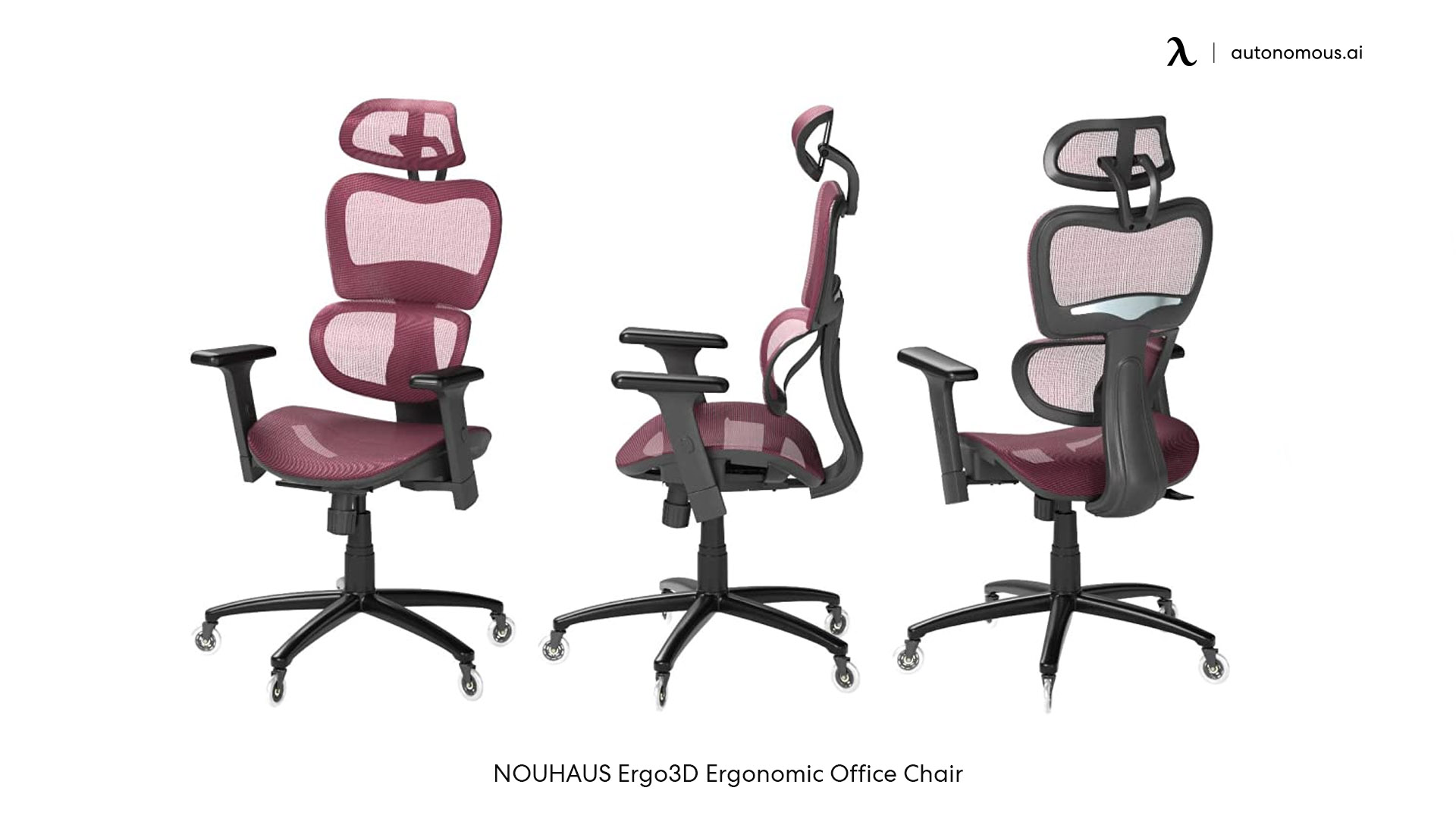 NOUHAUS Ergo3D red office chair with arms