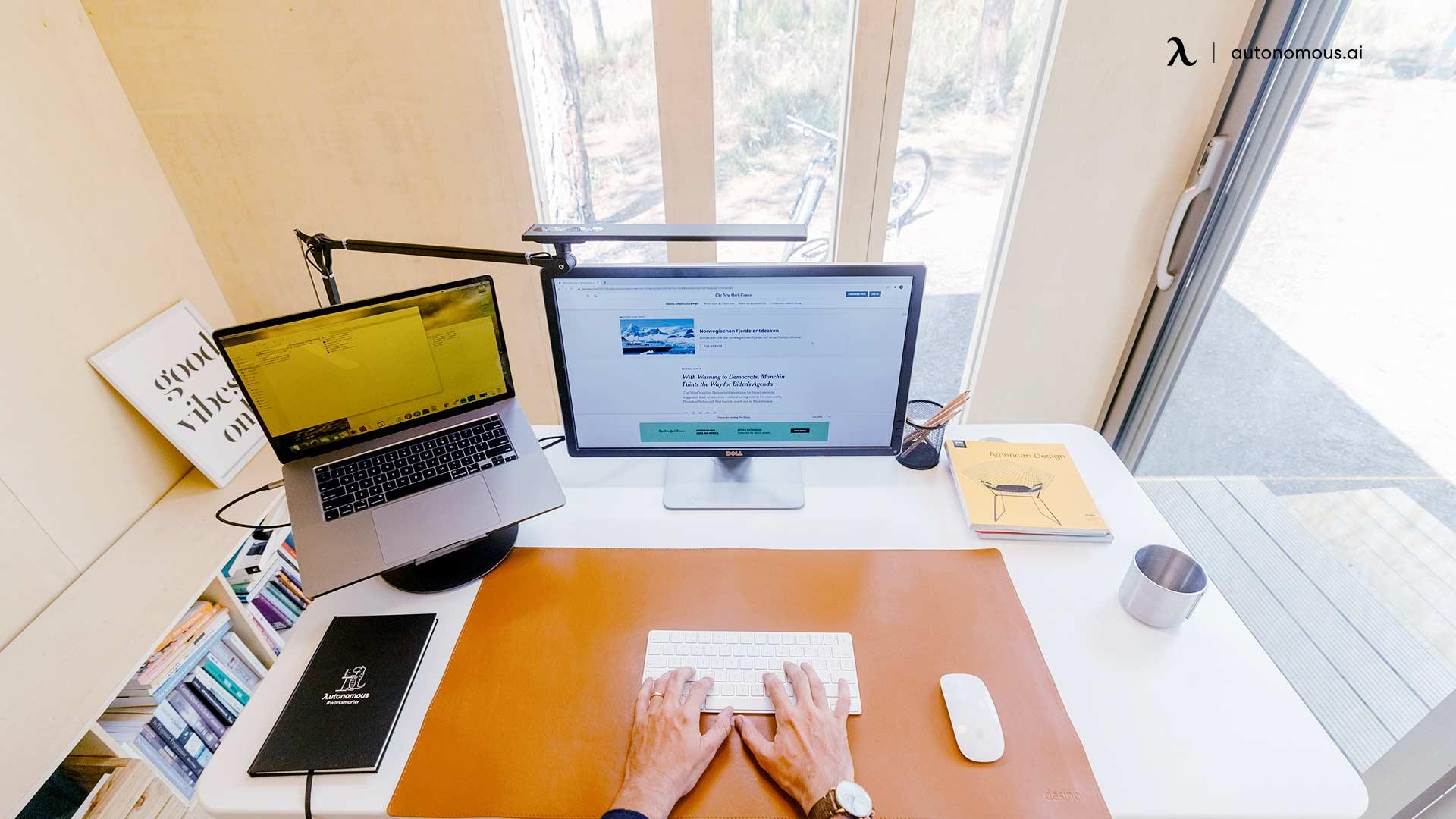Add Accessories in ergonomic office setup