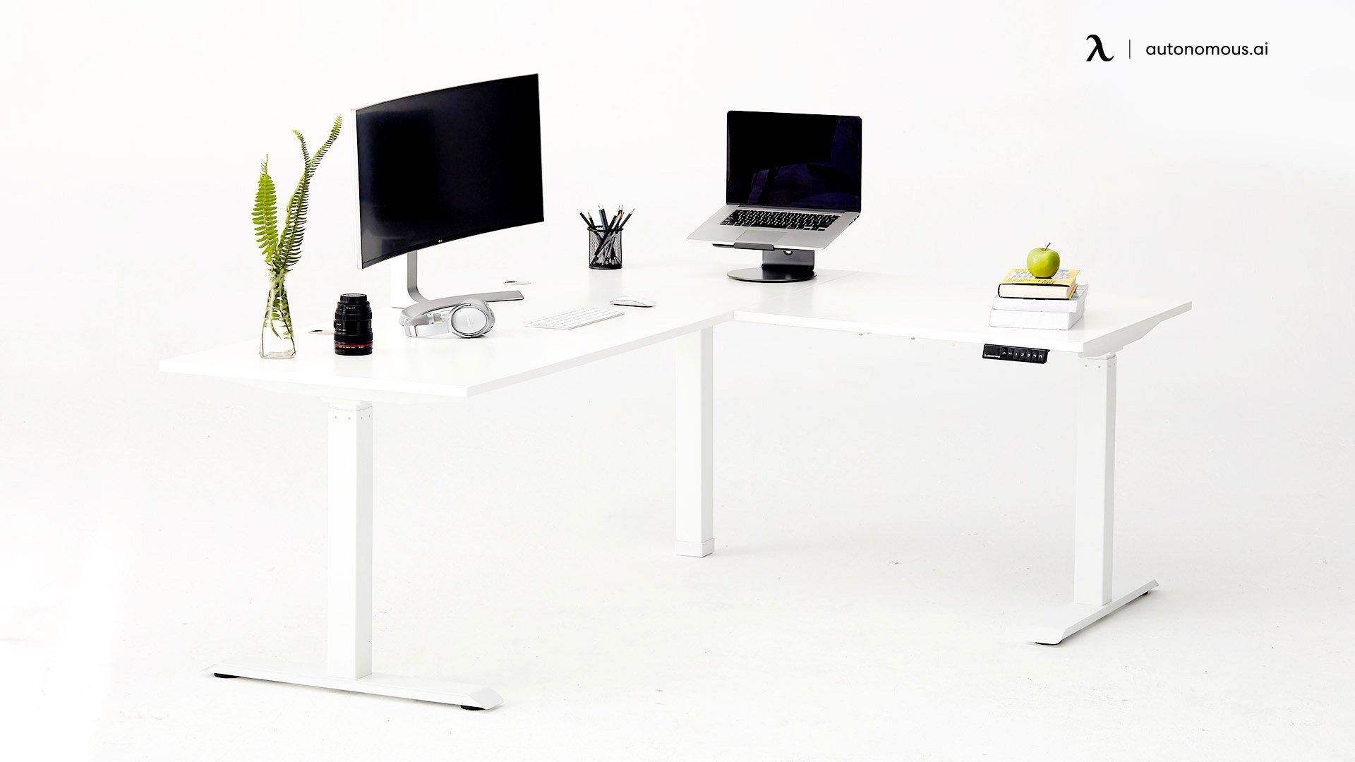SmartDesk Corner as Height changing desk
