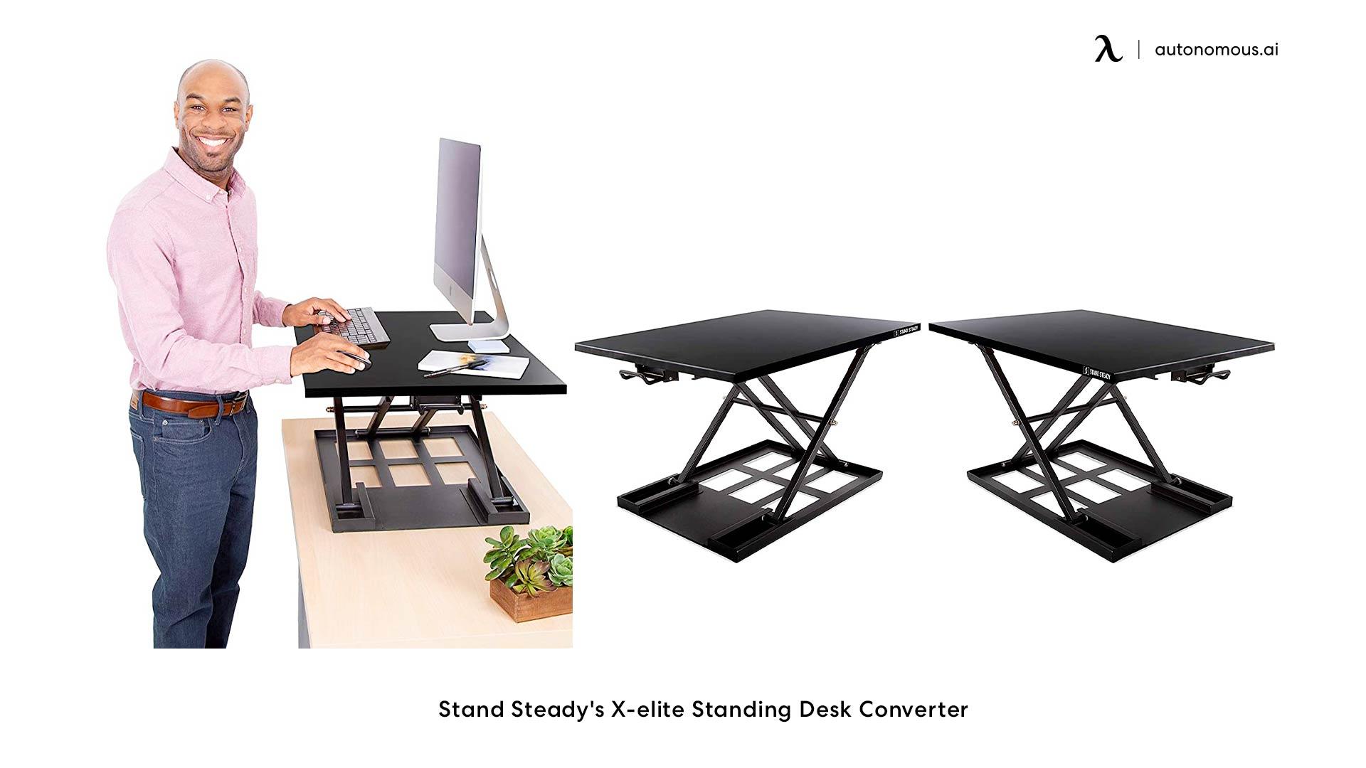 Stand Steady's X-elite Standing Desk Converter