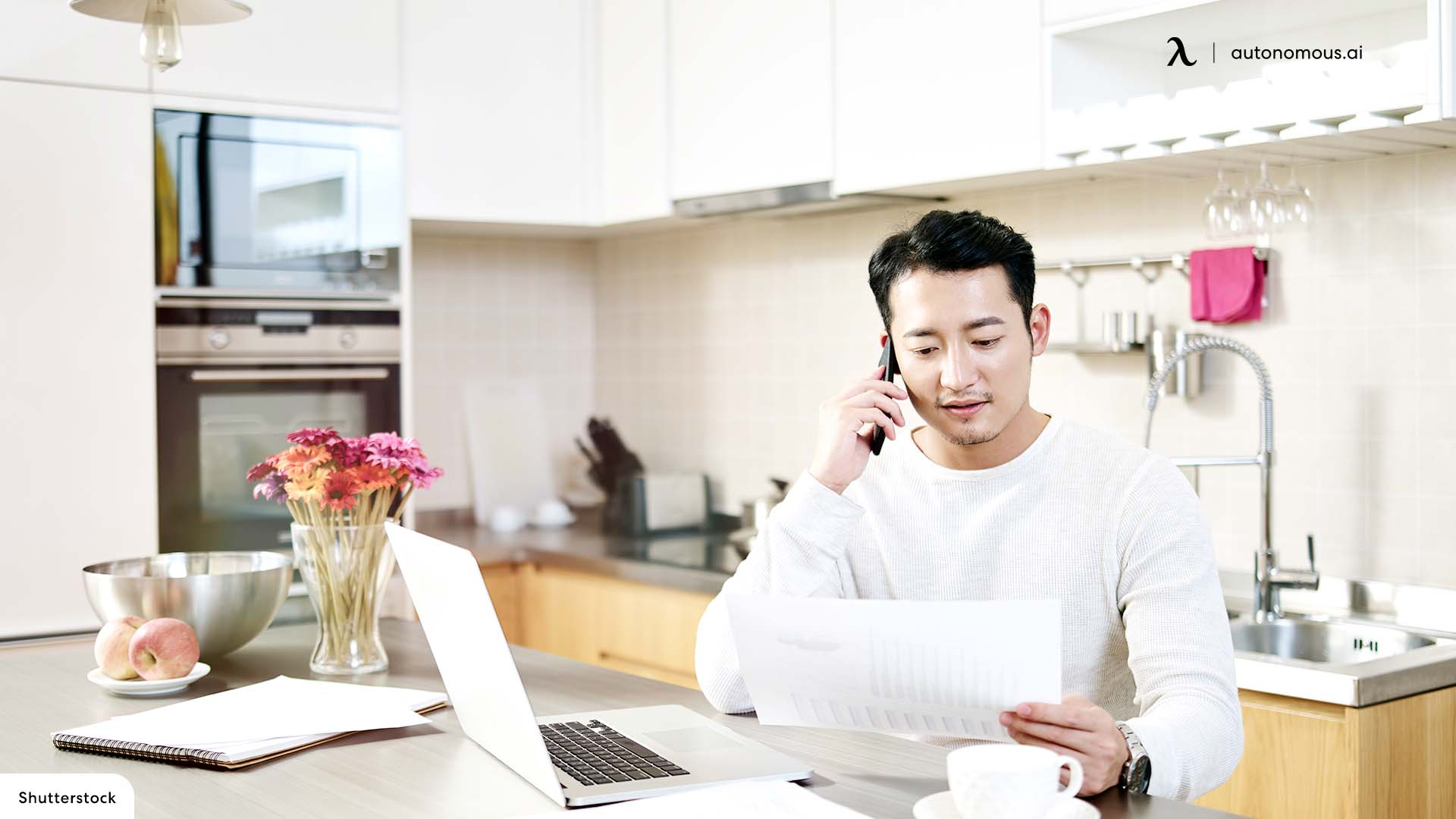 Using Your Kitchen Counter as an Office Desk
