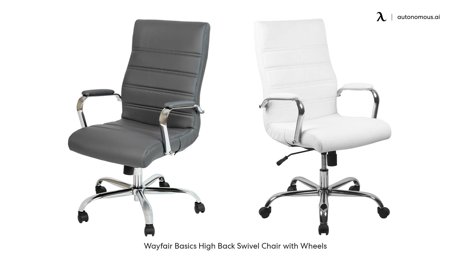 Wayfair Basics High Back Swivel Chair with Wheels