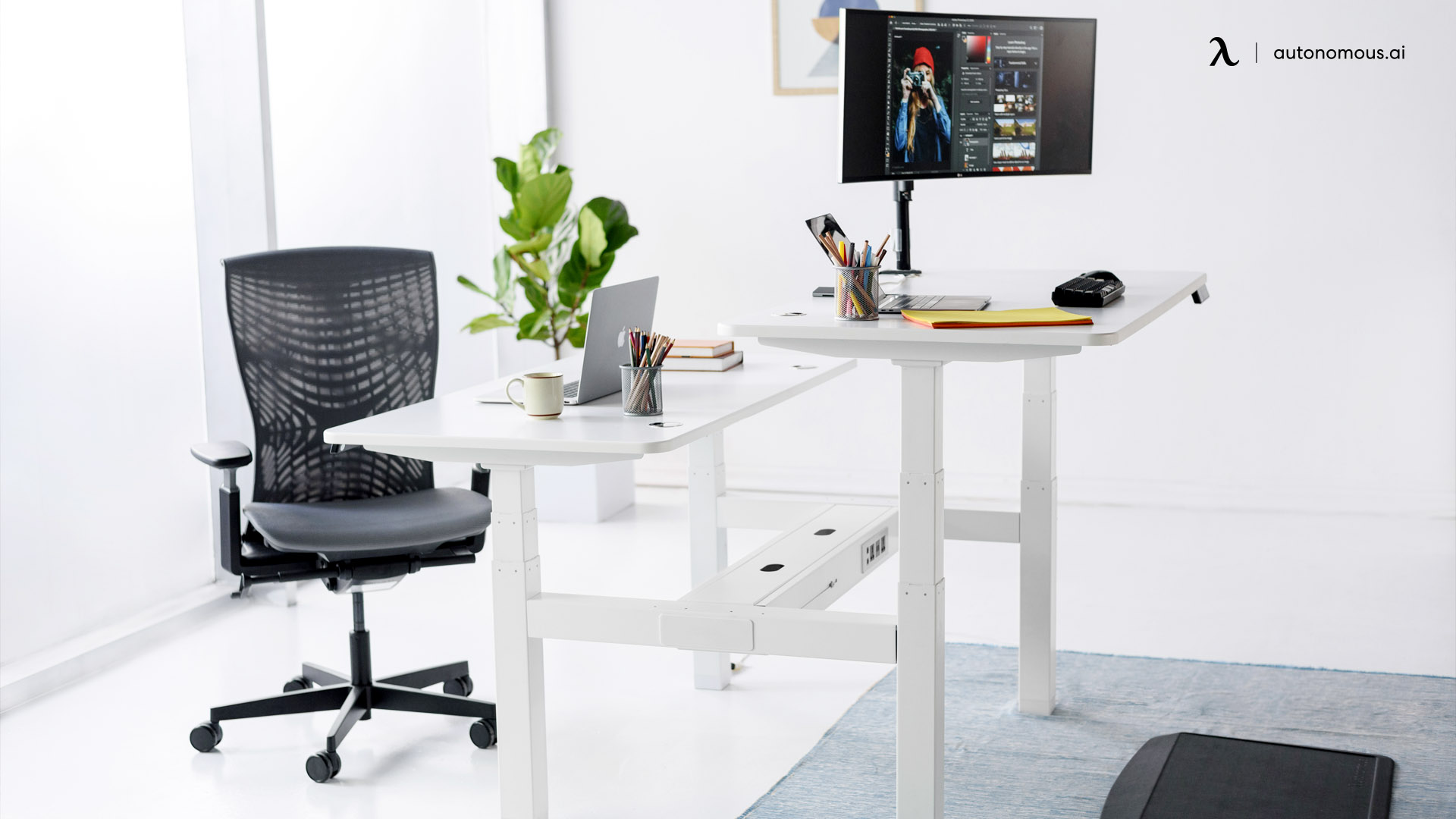 Monitor Arm and Desk Mat