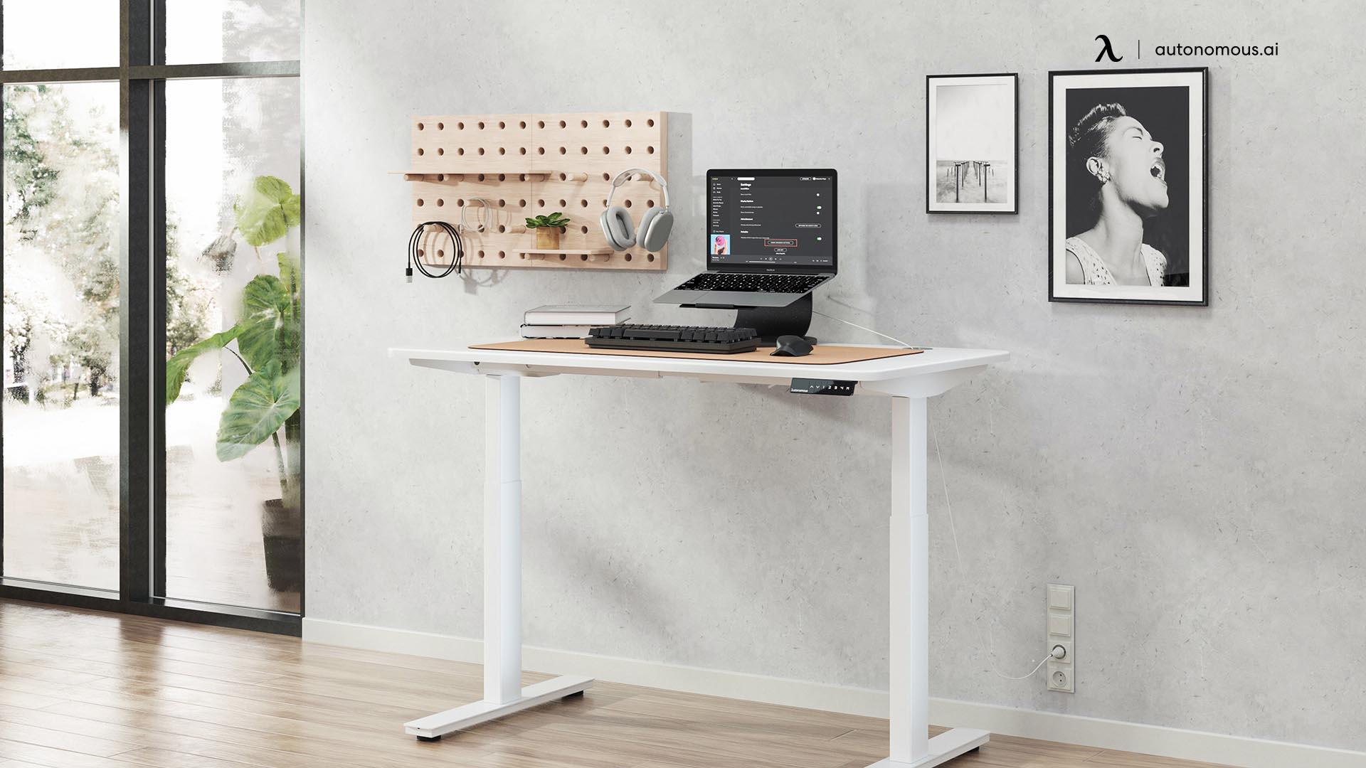 Desk in college desk setup