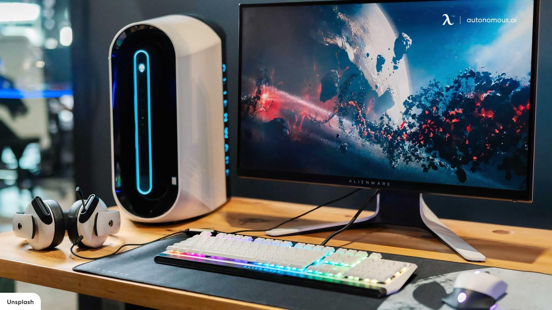 Modern Minimal Battle station Gaming Setup