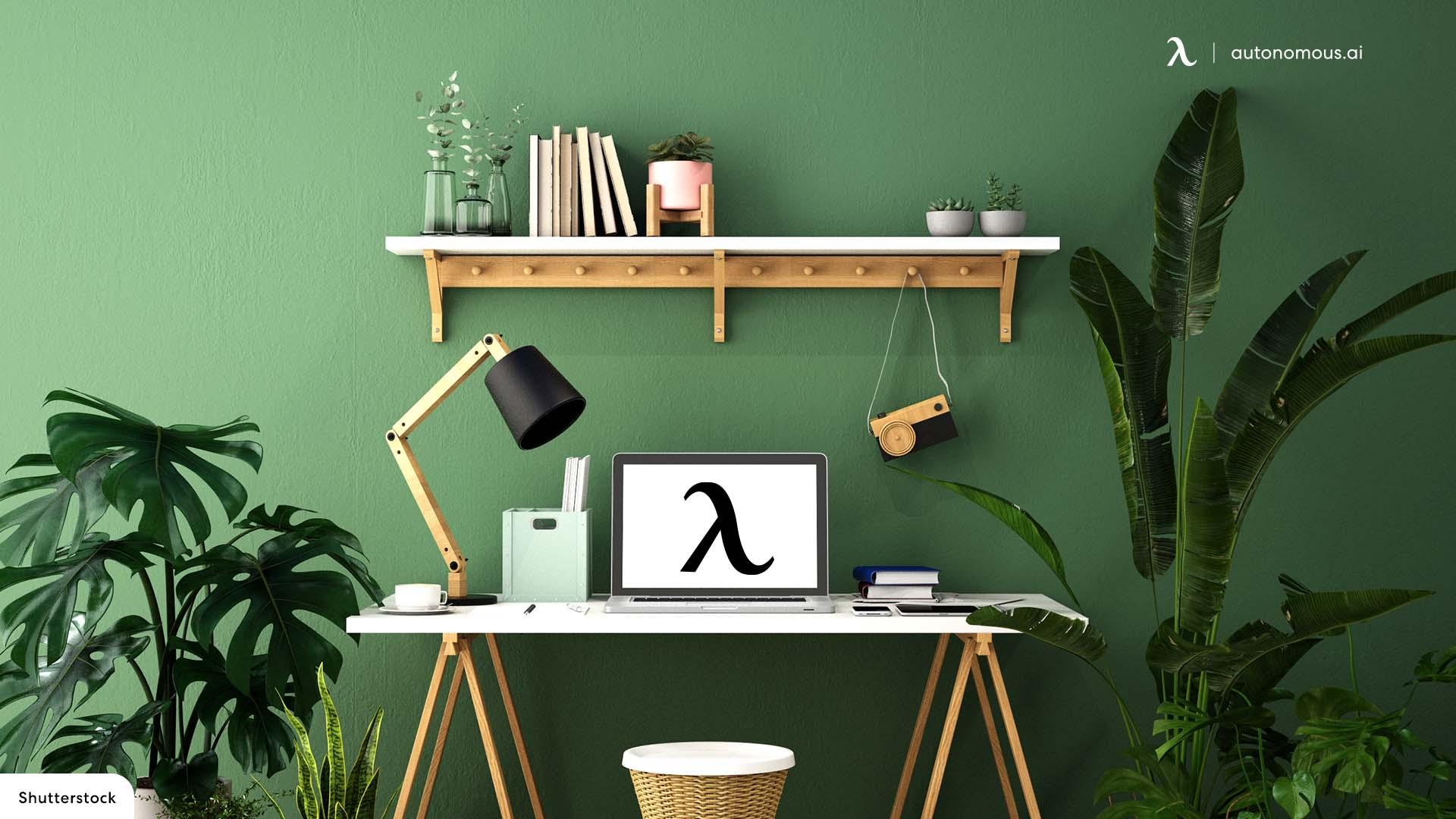 Cozy Aesthetic Desk Ideas with Plants