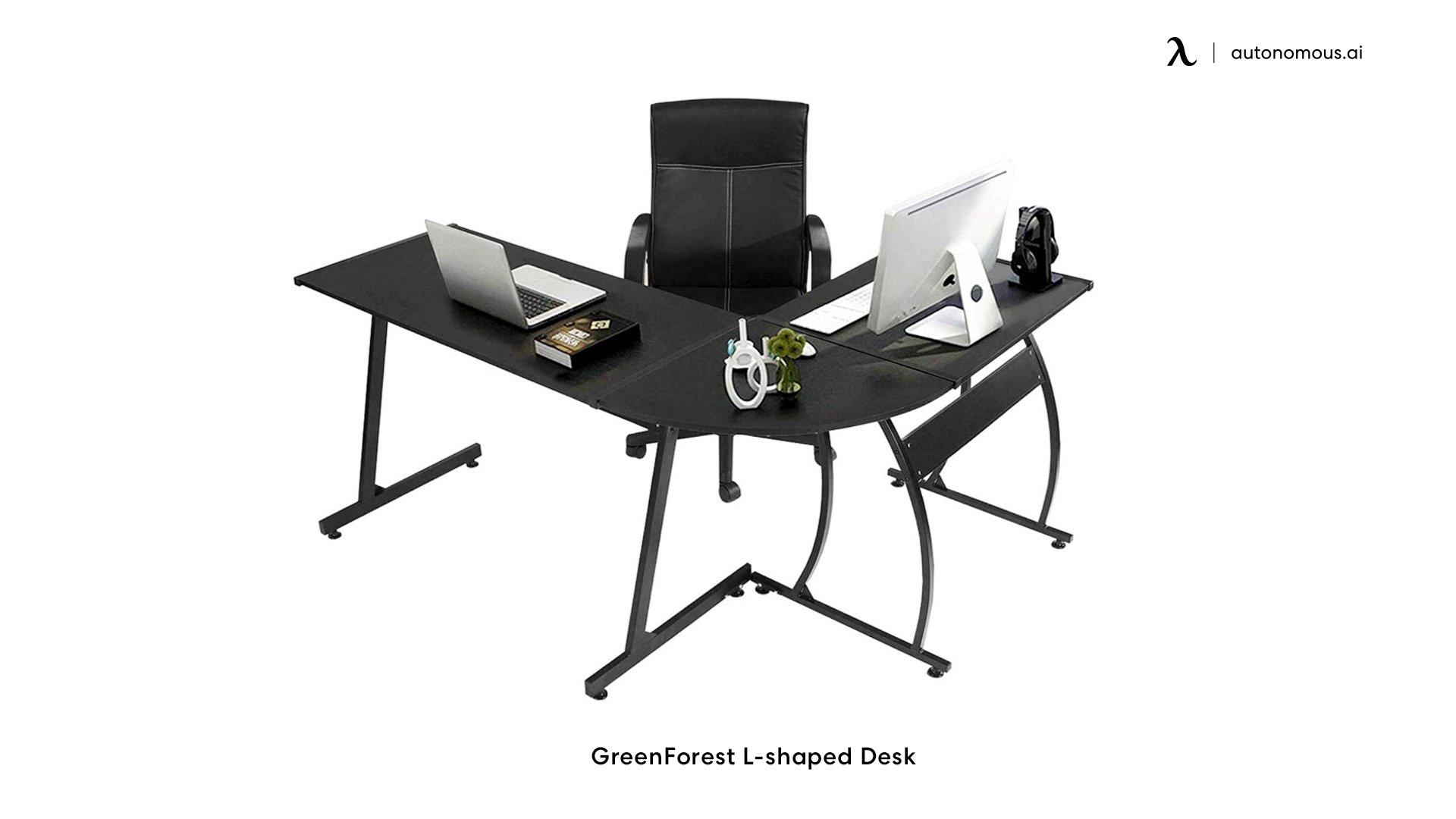 GreenForest Corner standing desk